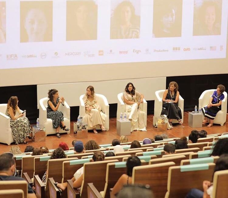 A discussion on 'Women's Empowerment Through Film',  with Menna Shalaby,Najwa Najjar and Richa Chada giving their two cents on the challenges that continue to stand in the way of women at every level of the film industry  #EgyptToday #GFF20 #GFF2020 @ElGounaFilm @RAYAofficial https://t.co/ofWPfcCJcL