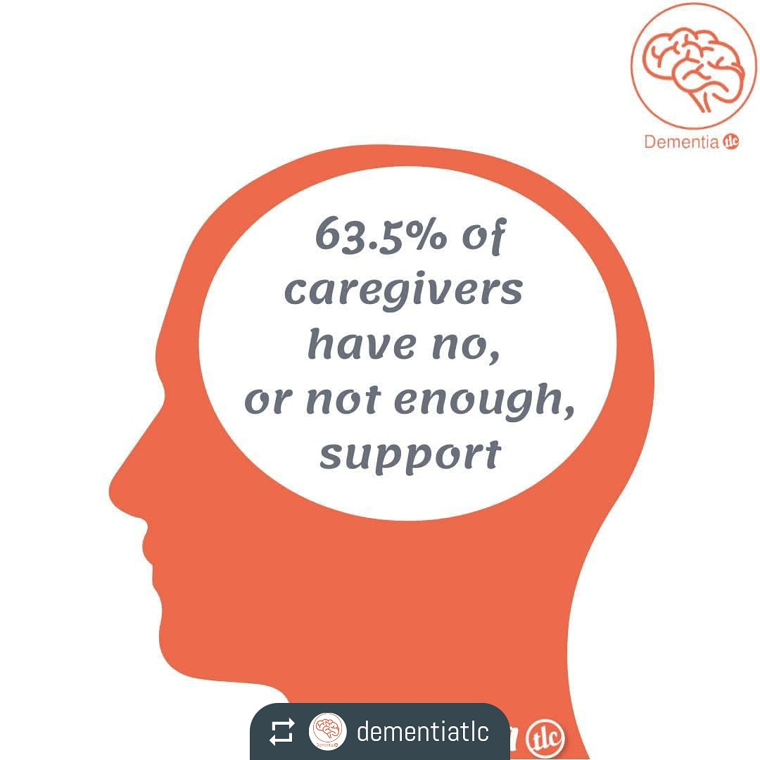 @dementiatlc by @easy_repost_app ---------------------------------------- 💭#WednesdayWisdom💭  Sadly, 63.5% of caregivers say that they have no, or not enough, support  #Dementia #Alzheimers #VascularDementia #DementiaWithLewyBodies #LewyBodies #FrontotemporalDementia https://t.co/FxDYNoNkVP