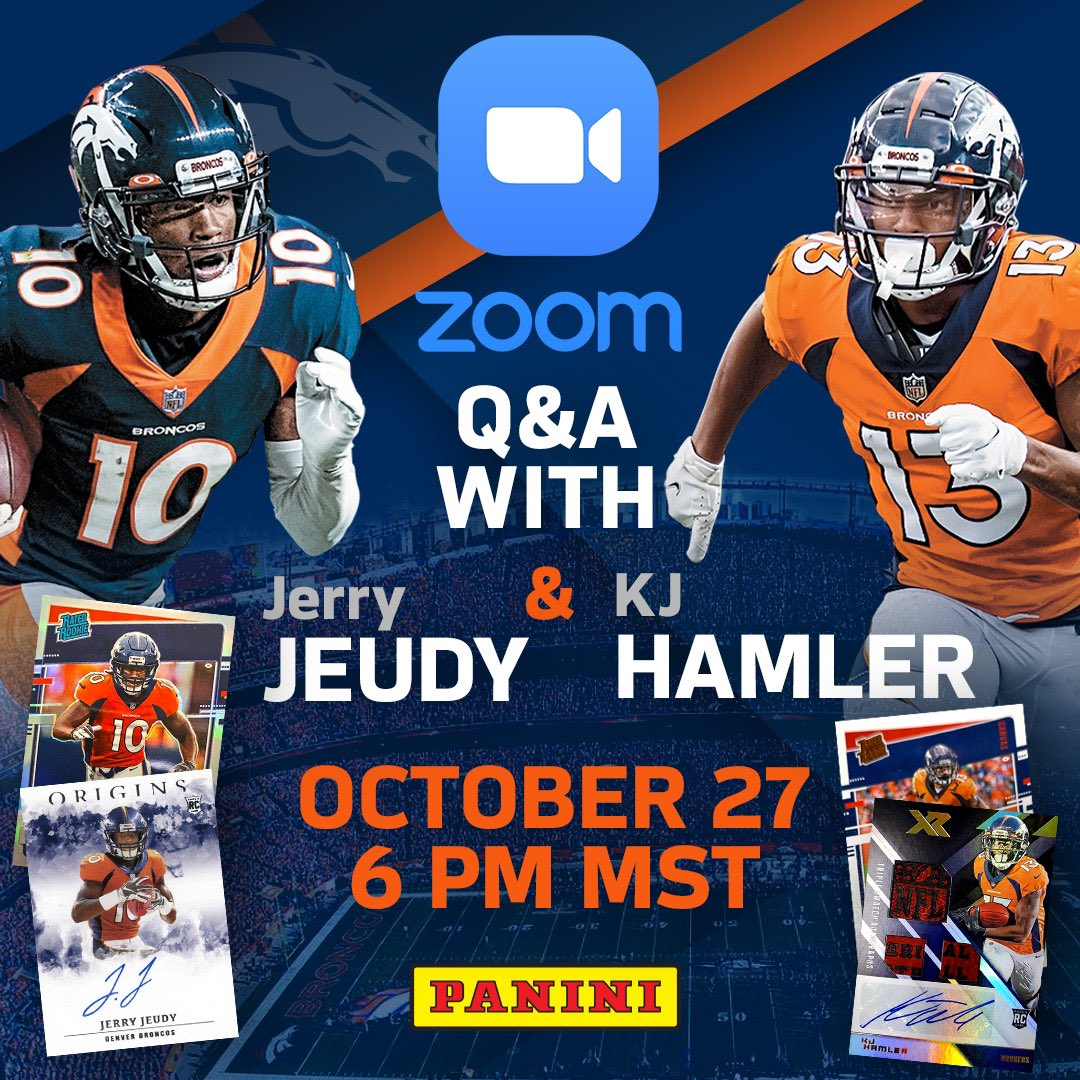 On to LA! Can't wait to back out there. Retweet, Comment with your favorite @Broncos moment below & tag @paniniamerica for a chance to join me & @Kj_hamler on a ZOOM Q&A Tuesday night! #ratedrookie #BroncosCountry https://t.co/5qSaJlEfC9