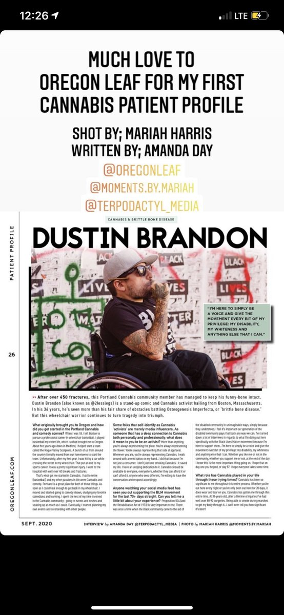 Y'all know I even made my magazine debut this year too? And for Oregon Leaf. All thanks to @2lesslegs for this opportunity. https://t.co/tk9QYOnlJg
