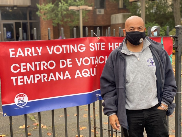 I early voted today. Did you? Find your early vote location voterlookup.elections.ny.gov, get your mask and go vote!