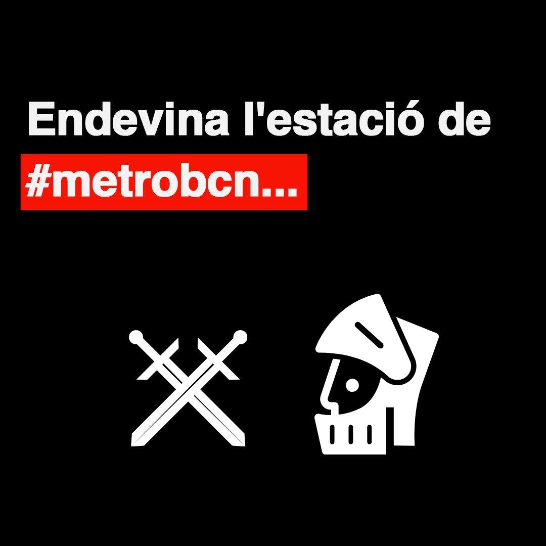 Ets capaç de desxifrar el nom de l'estació de #metrobcn llegint les icones de la imatge? Línia 5! • • • #endevina #metro #metrobarcelona #transportpúblic #humor #Barcelona https://t.co/TGzjgUqw2f