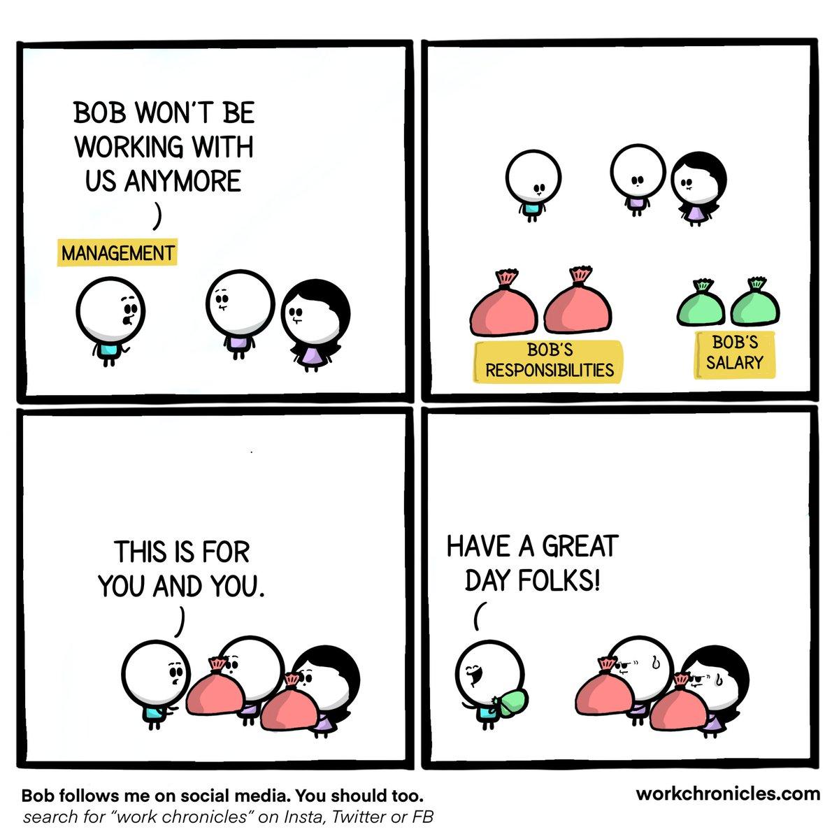 Responsibilities VS Salary  Not very #mondaymotivation. Credit to @_workchronicles.  #career #hr #comic #humor https://t.co/WKaAmpIuTY