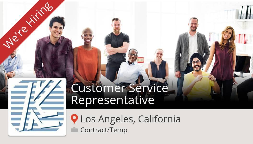 Check out this #job: Customer #Service #Representative at #KimcoStaffing (#LosAngeles) https://t.co/2b4xdO4ei9 #changinglives #job #hiring https://t.co/MVLJJoQqz1