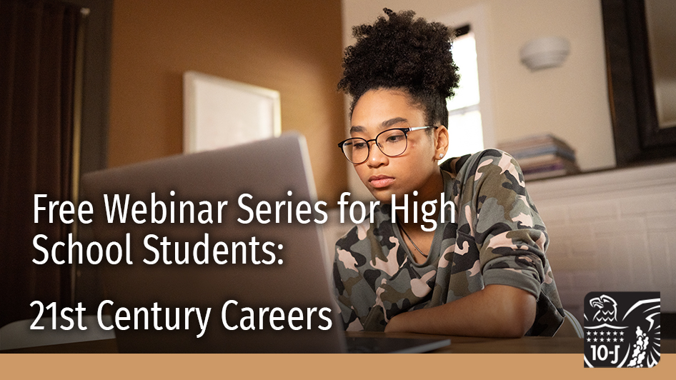 #Teachers & high school students are invited to participate in our free 21st Century Careers Webinar Series! This series gives high school students opportunities to hear from local leaders about strategies for career success. Learn more at https://t.co/MH5ZUNo0Q0 #OnlineLearning https://t.co/LcOenJDRcL