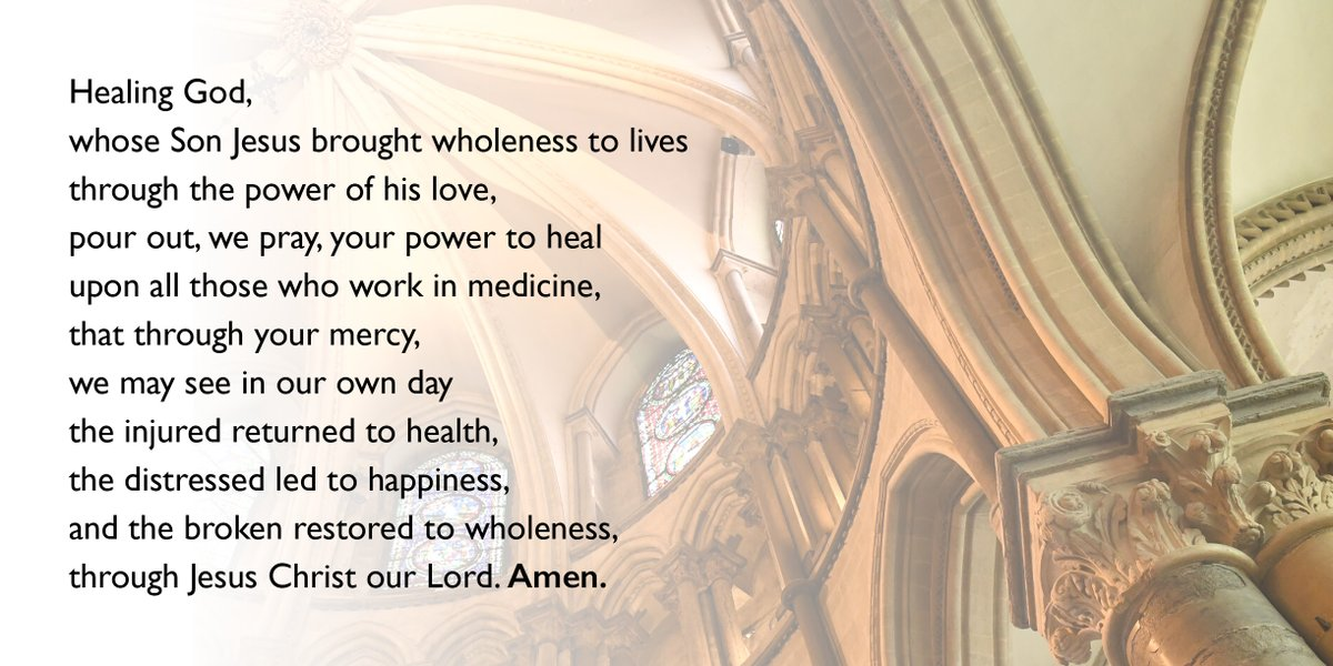 We pray today for all those suffering from #COVID19, and especially today in this time of increased pressure, for all those working in our health services. https://t.co/k65vZGVpMh