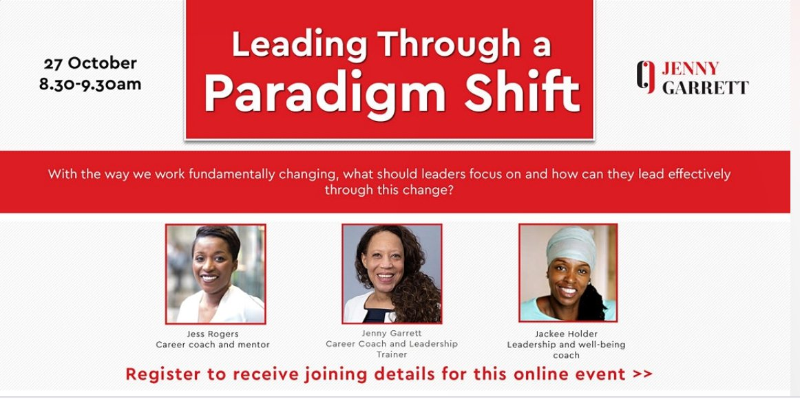 Join me and over 70 others for breakfast tomorrow  - Leading through a paradigm shift https://t.co/I6fhMHNxsa #Leadership #Coaching #Change #COVID19 https://t.co/l1Tki5ouMA