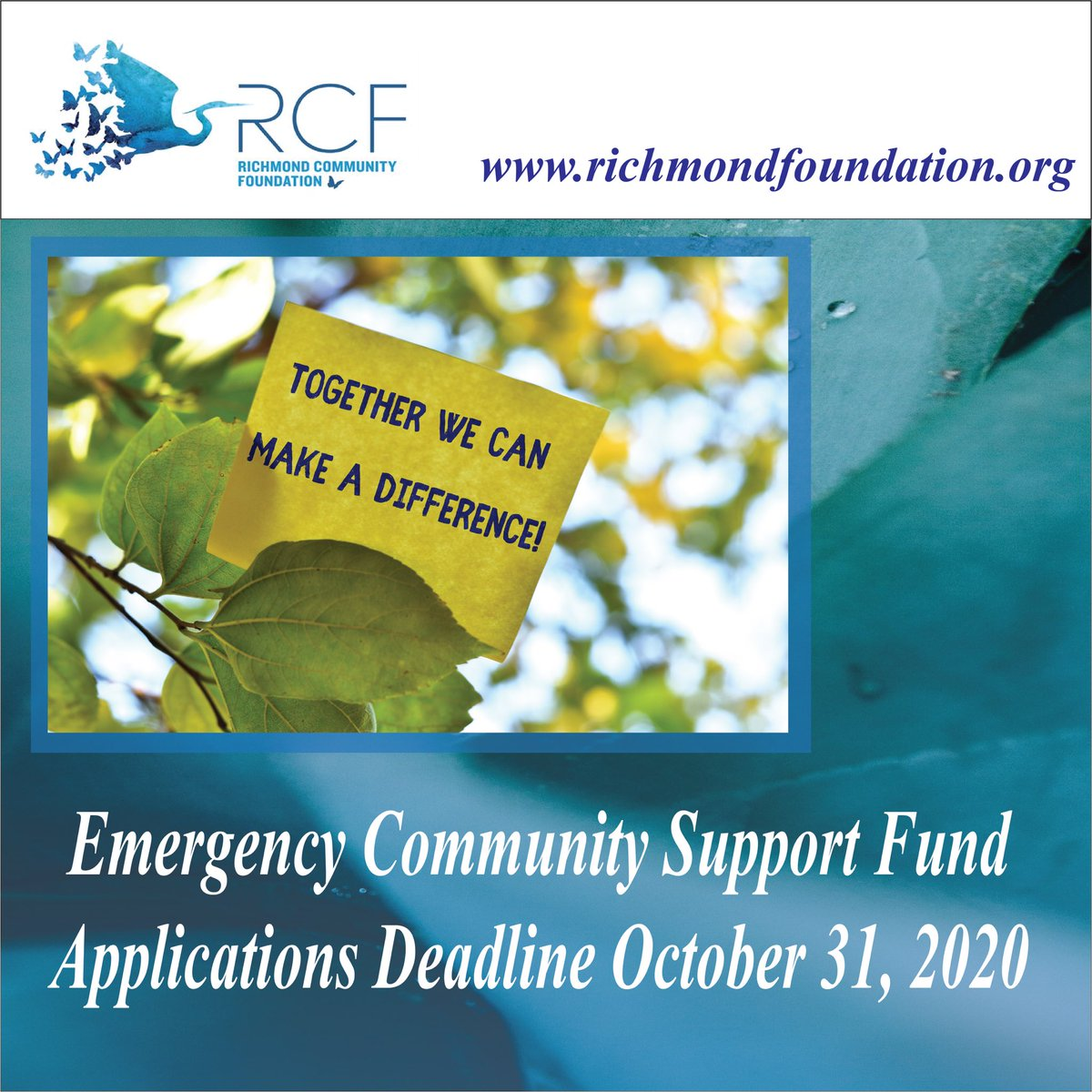 Thanks to a collaboration with @ESDC_GC @CommFdnsCanada the Richmond Community Foundation is accepting applications for the second round of #ECSFund. We continue to provide support for qualified donees working with populations made vulnerable by #COVID19 https://t.co/UGSRajsUbe https://t.co/caN0QZ8tDb