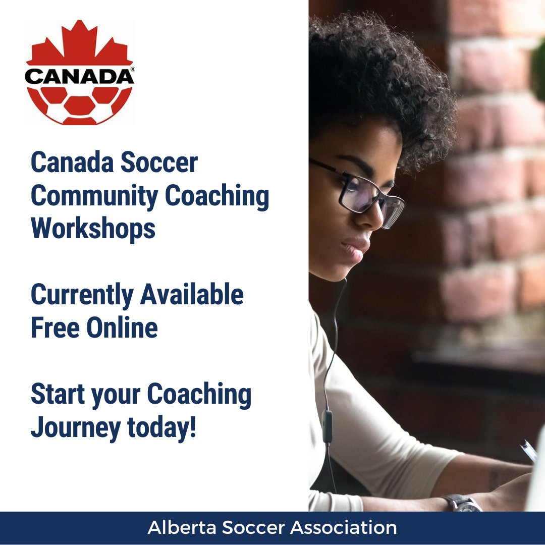 Looking for a way to get started on your coaching journey?  Check out the Canada Soccer Online Community Coaching Workshops. These NCCP workshops follow the Long Term Player Development pathway & are currently available for FREE.  To register go to: https://t.co/OLJfbFcuzs https://t.co/6I4blj0vDh