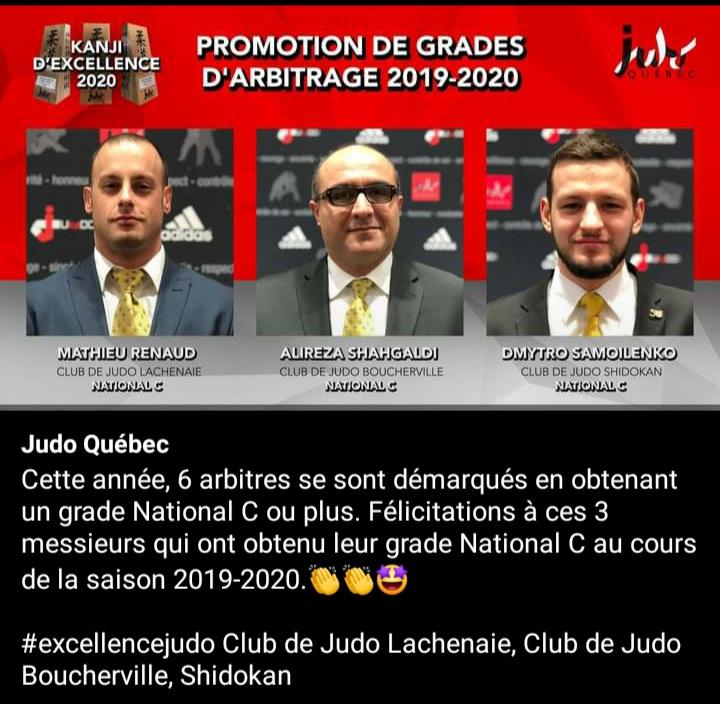 Félicitations Alireza!! 🥳 👏 🥋 Congratulations Alireza! 🥳 👏 #judo #sports #champion #athlete #judoboucherville #promotion #grade #québec #canada #gala #galaexcellence #arbitrage #referee #judoka #bravo #National #judofamily #happy #heureux #RESPECT #RoleModel #excellencejudo https://t.co/yjl8y34pF2