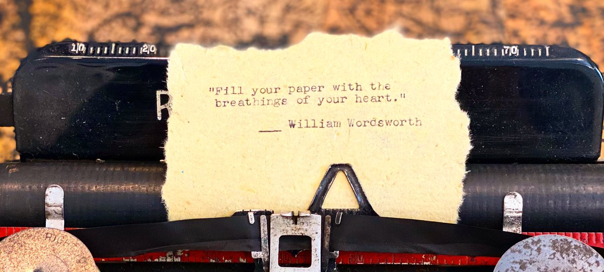 "10/26/2020 #quoteoftheday   ""Fill your paper with the breathings of your heart.""               — William Wordsworth  #quotes #quotestoliveby #writingquote #writerquotes #quote #amwriting #writer #writing #writerslife  #novelist #author #authors #writingcommunity #writercommunity https://t.co/tgbji7CWpA"
