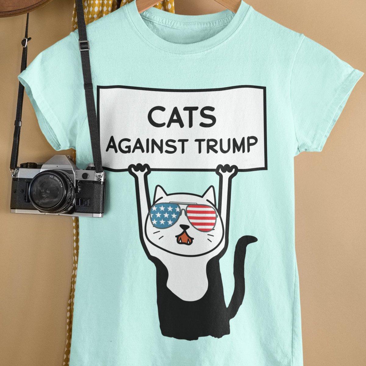 funny cat against trump t-shirt #TrumpCovid19 #AntiTrump #Election2020 #Election2020 #VoteHimOut #VOTE #VoteHimOut2020 #TrumpIsLosing #nope #November3rd https://t.co/L5b0wkfISJ
