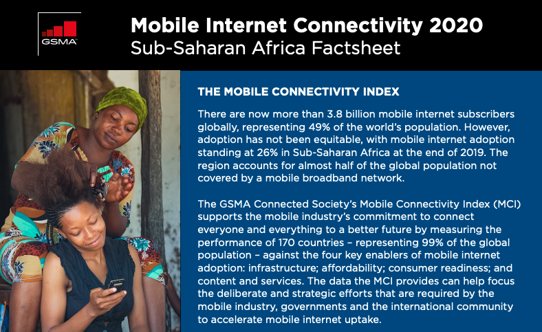 """According to @GSMAm4d's Mobile Internet Sub-Saharan Africa factsheet, """"the biggest barrier to mobile internet adoption reported by consumers who are aware of it is a lack of digital skills, especially for #women and rural populations."""" https://t.co/lhaLStYK6y #EmpowerWomen https://t.co/wLxVXPRiNS"""
