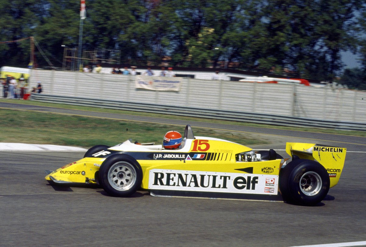For the 1st (and only time so far), the 1980 Italian GP wasn't held at @Autodromo_Monza but @autodromoimola  instead. For Jean-Pièrre Jabouille in the Renault RE20, it meant another retirement.  #F1 #ImolaGP #RSspirit #RenaultF1 https://t.co/T6tEbGXyLb