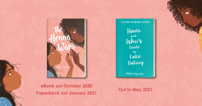 Adiba's characters sing out from the page, and she weaves together issues of race, sexuality and culture into a narrative that readers will fall head over heels for, @HachetteKids scores two YA titles from @adiba_j, with her debut The Henna Wars: bit.ly/3opBhWi