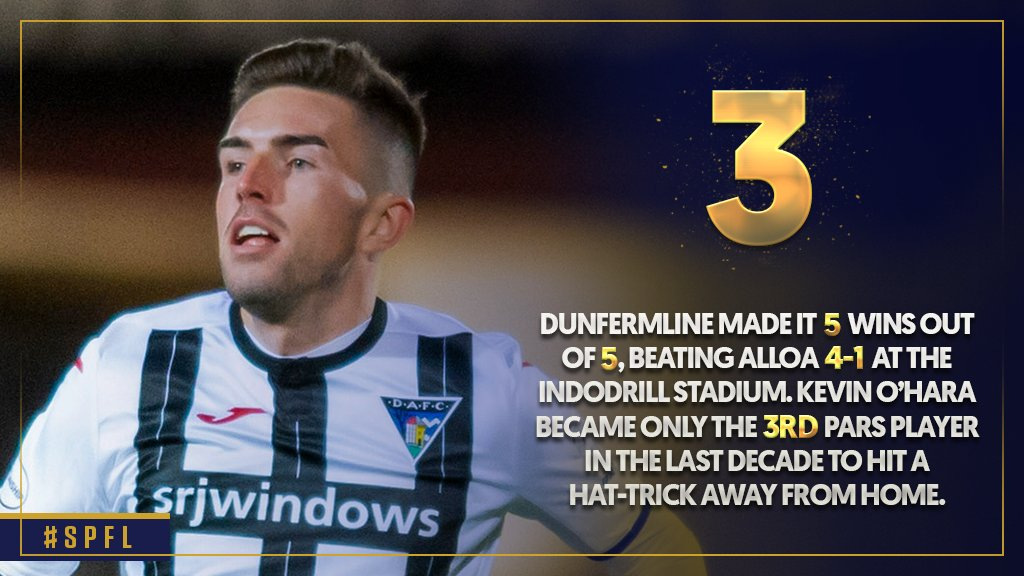 🔢⚽️ @_kevinohara bagged a hat-trick for the Pars on Saturday  Read @SPLstats' Weekend in Numbers 👉 https://t.co/r3CGrckD6Y  #SPFL | @officialdafc https://t.co/e4jXynbxK0