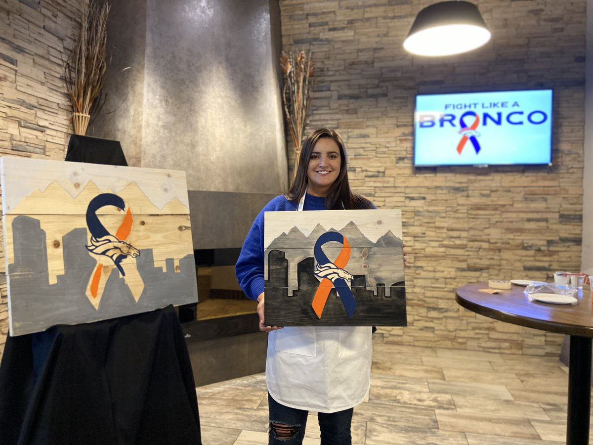 Though #COVID19 has altered how we connect with our community, the @Broncos remain committed to reaching those who've been impacted by cancer.  During October, we held several virtual & safe in-person events as part of our #FightLikeABronco outreach.  📸: https://t.co/yY9jUJDcLK https://t.co/ub8Fh0k3ZL