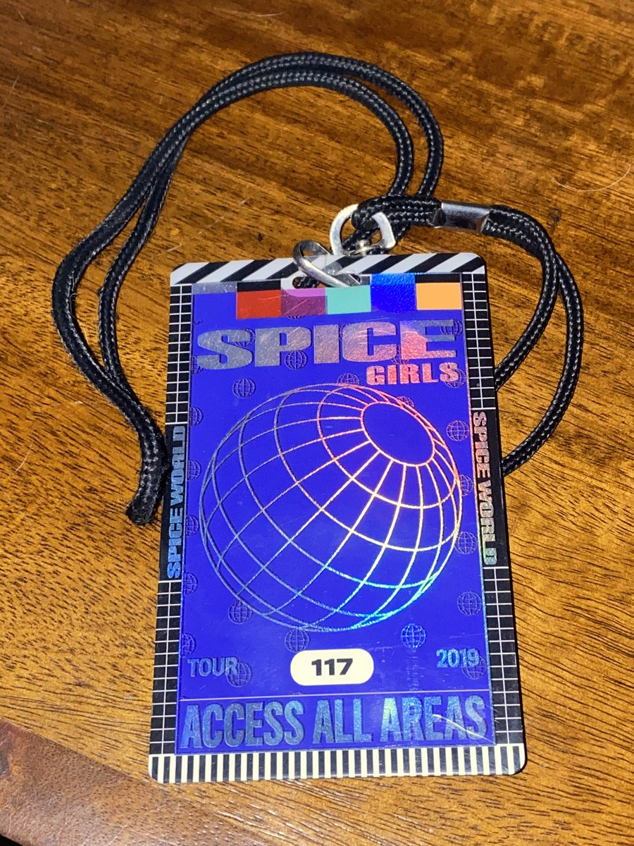 ENDING SOON   The @spicegirls 2019 #Spiceworld #Backstage ACCESS ALL AREAS #Crew pass   Very rare & collectable #spicegirls #memorabilia   https://t.co/WyEuUmwlWp https://t.co/pOF9CghIY0