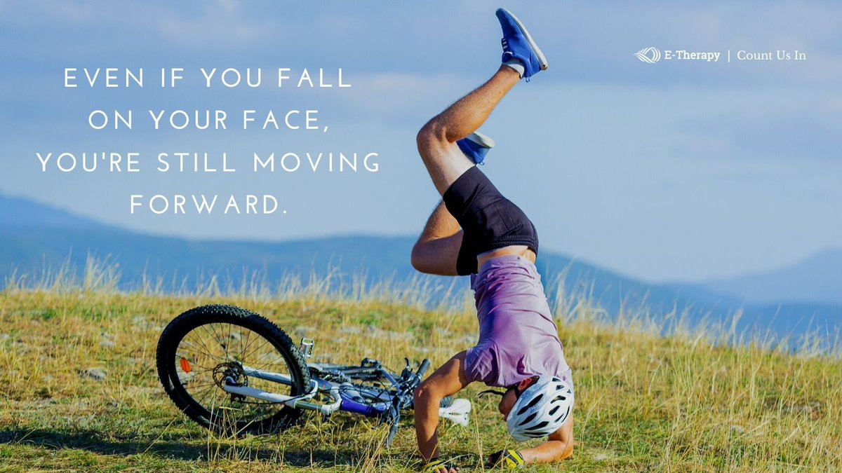 Even if you fall on your face, you're still moving forward. Sometimes you gotta let momentum do its work. Have a good week everyone! #mondaymotivation #momentum #SpecialEducation https://t.co/uTA8yepBtl
