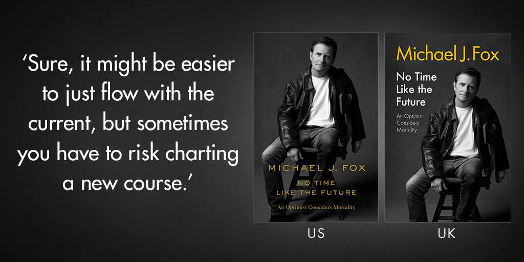 Resilience. Hope. Fear. @realmikejfox discusses the things that resonate in all of our lives. #notimelikethefuture #michaeljfox #flatironbooks
