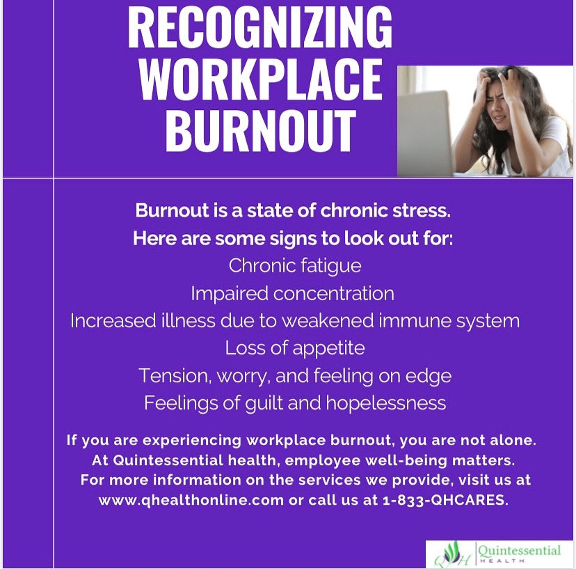 As we get closer to the holidays, you may find yourself overwhelmed with increased workload and approaching deadlines. Recognizing burnout in yourself can be the first step to making meaningful changes for your mental health  #mentalhealth #burnout #selfcare https://t.co/OGvaSGpX8l