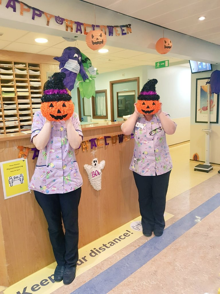 Paediatric nurses. Never not at it. Making kids smile, that is 🎃.   You'll notice the ghosts are wearing masks this year. Love my nursing colleagues 💕  A big shout out for the children's ward in Bon Secours Cork.  #paediatrics #pediatrics #halloween   @OpinionLine96 https://t.co/5FLmcpZB0j