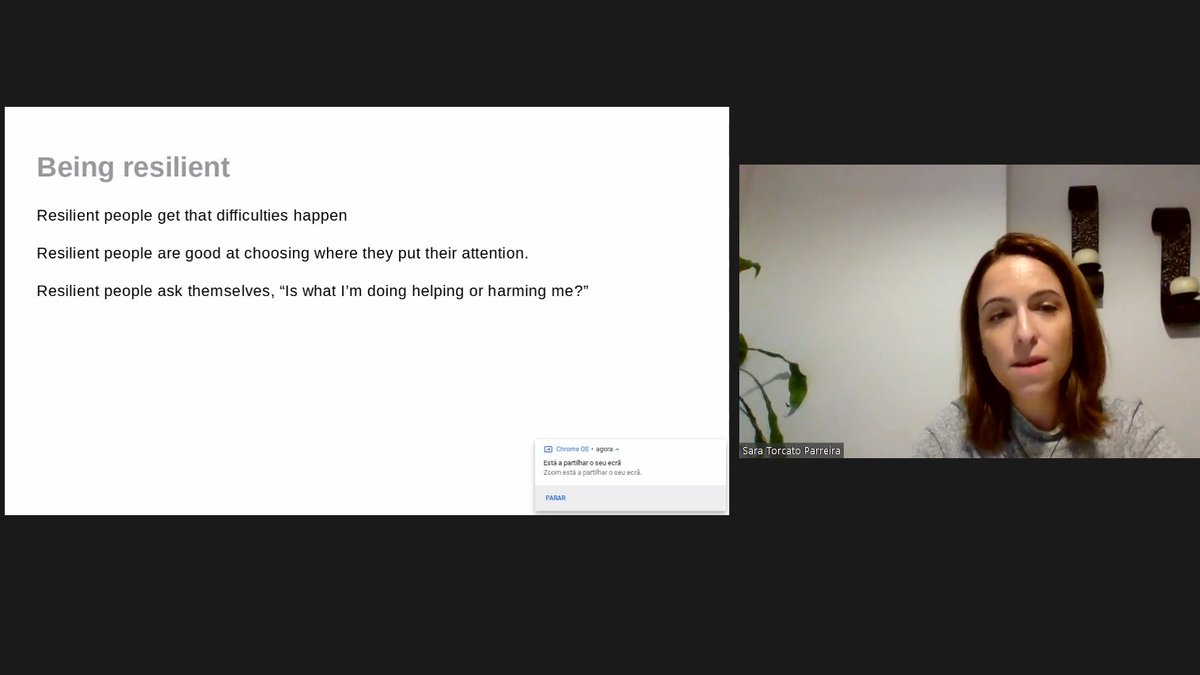 EONS #Young #Cancer #Nurses Nightingale Challenge Webinar 1: Compassion #fatigue, resilience and #burnout   ''Difficult moments happen and then it's your decision to swim or to sink'' says @SaraTParreira . https://t.co/RKOLdCt4zX