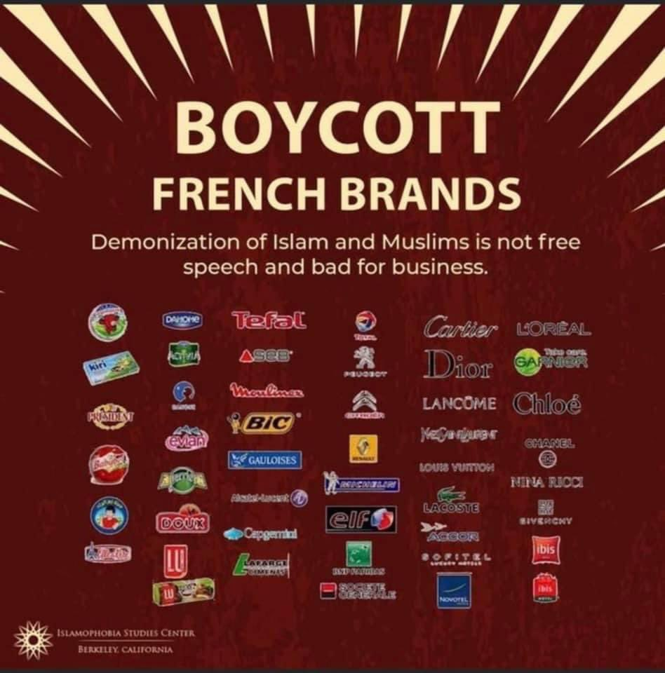 Aussi aux #USA les musulmans appellent à boycotter les produits français #boycottfrance https://t.co/FUd9sf1Yx4