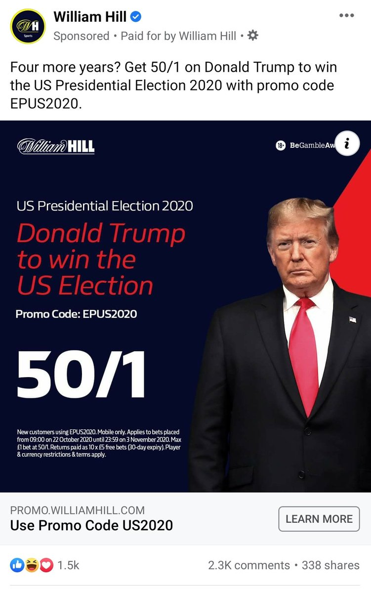 William hill bet on us election cash out betting ladbrokes bet