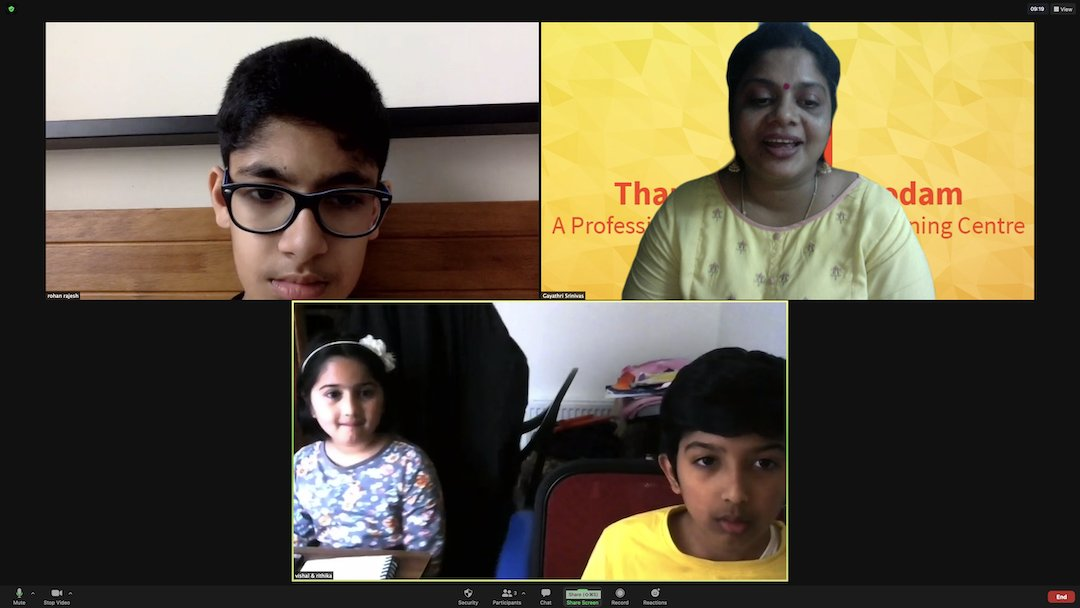 Vijayadasami day session with Lovely kids from all parts of the world. #USA #America #RhodeIsland #Scotland #LearnTamilOnline #TamilLanguage https://t.co/Hx4gjYeeJx