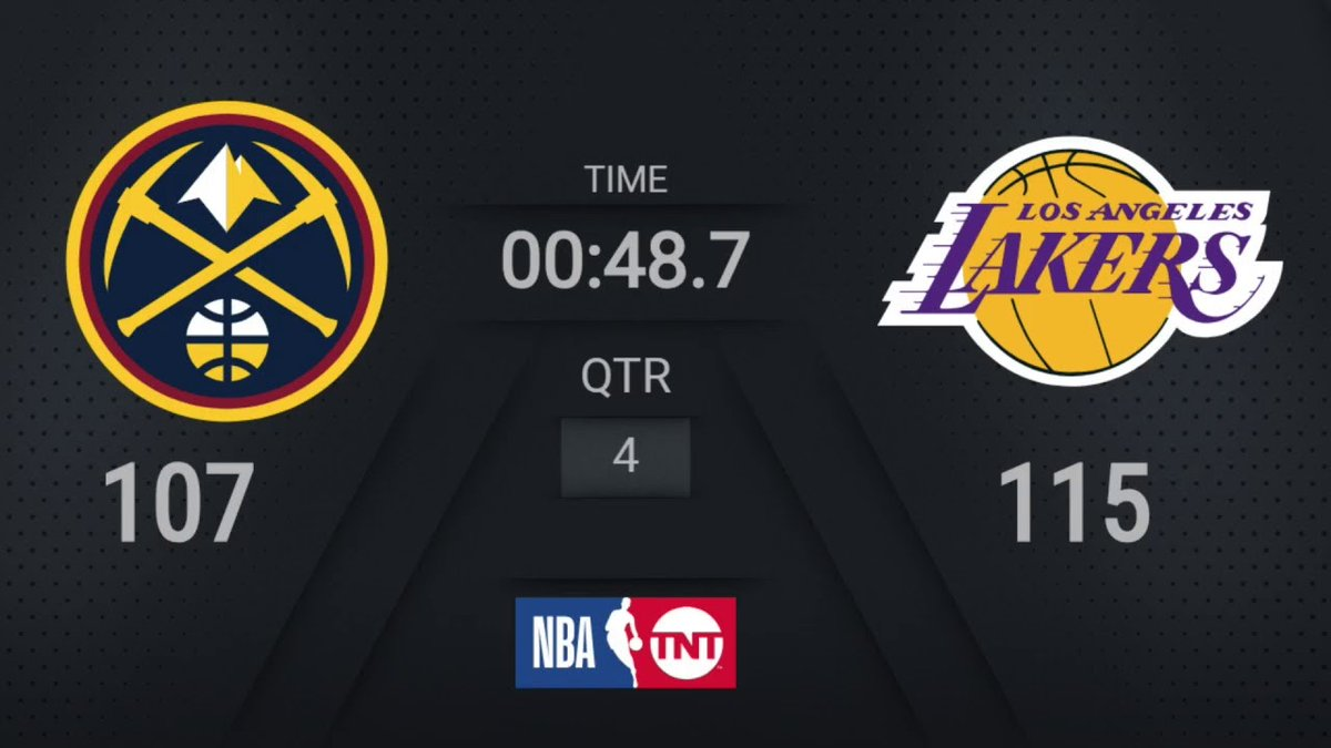 #NBAVideos: Nuggets @ Lakers | NBA on TNT Live Scoreboard | #WholeNewGame    https://t.co/2cX0bNQqS5 https://t.co/ggQcstbTjM