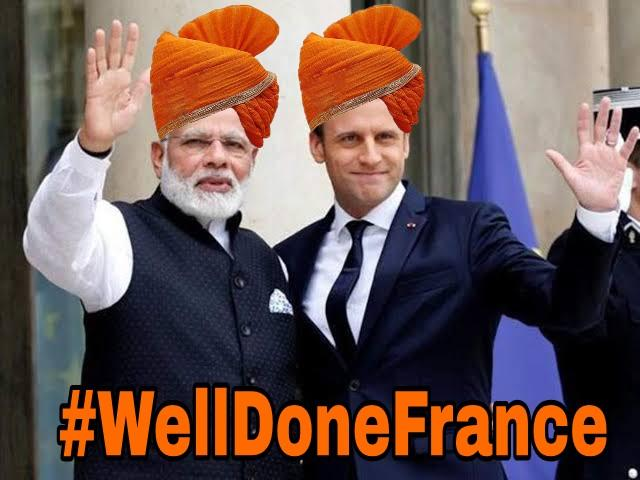 I am #Hindu and I Support France, this is fight against Terrorism We welcome every step taken by #France against Islamic Terrorism 💪 @EmmanuelMacron #welldoneFrance #weldoneFrance https://t.co/QsmSJ11CCW
