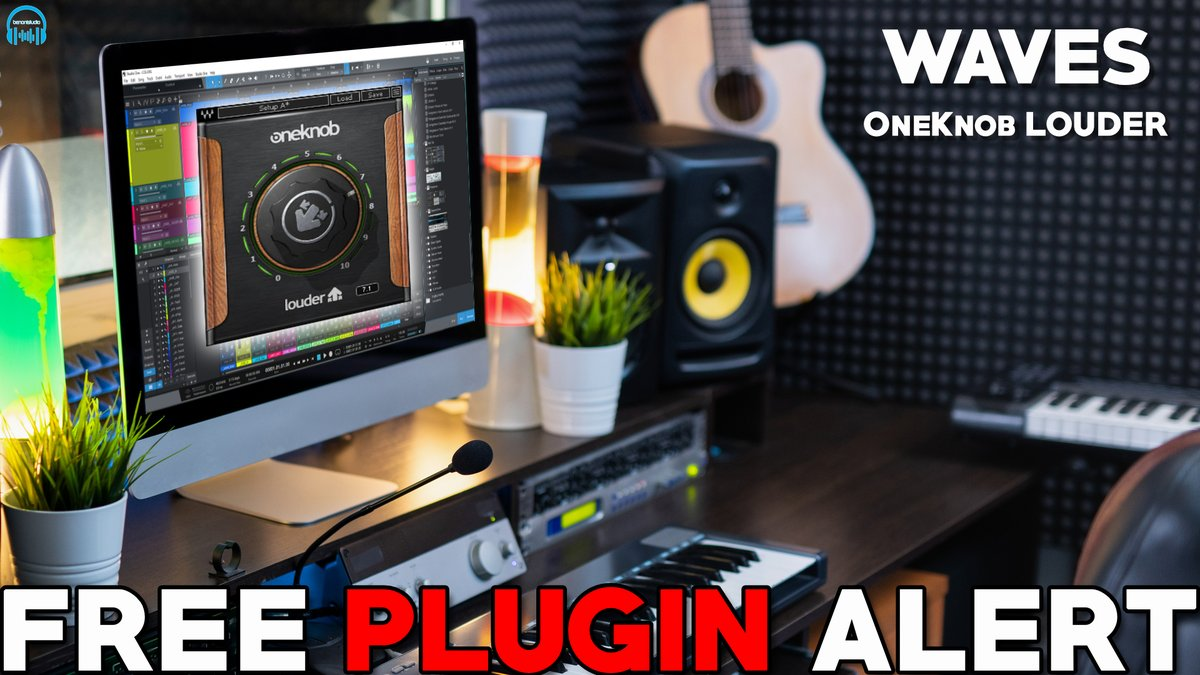 #FreePluginAlert Get Waves OneKnob LOUDER for free! Limited time promo! Get it now 🔥  WATCH NOW: https://t.co/1Y6tNChofn  #plugins #Waves #freePlugins #StudioOne #ProTools #VST #AAX #plugin #WavesOneKnob https://t.co/fv4eZu1rmA