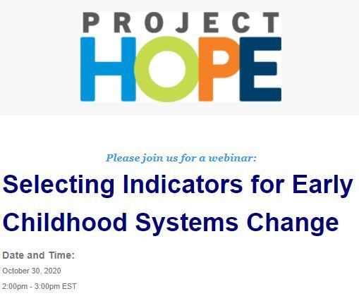 A reference guide + webinar to help groups select data indicators for #ECE systems change. https://t.co/aatHqsNigi