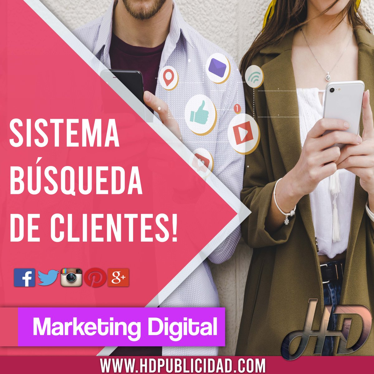 En #Hd te ayudamos a conseguir #Nuevos #Clientes🙌 📊💪 ~Aumentamos tus #Ventas📣~ >Marketing Digital >Aumentamos tus ventas >Publicidad en Redes sociales Consultanos HD Agencia Digital https://t.co/KHsJe35Vor ▶️📱Whatsapp: 0341-6663229 info@hdpublicidad.com https://t.co/GjTkfROg6F