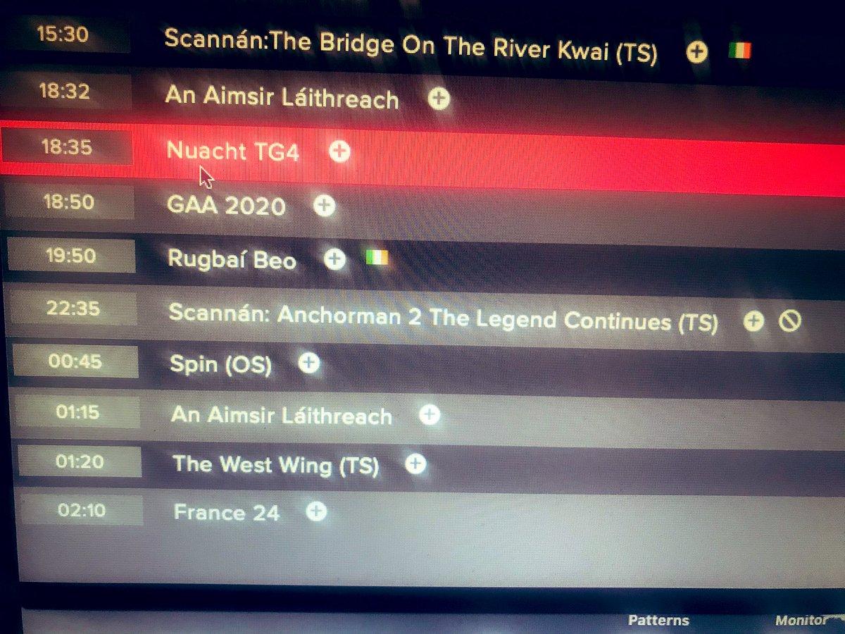 GAA, Rugbaí Beo & Anchorman2! @TG4TV @SportTG4 @Munsterrugby What a great night ahead #bankholidaymonday #SUAF #pro14 https://t.co/kyi5136vWA