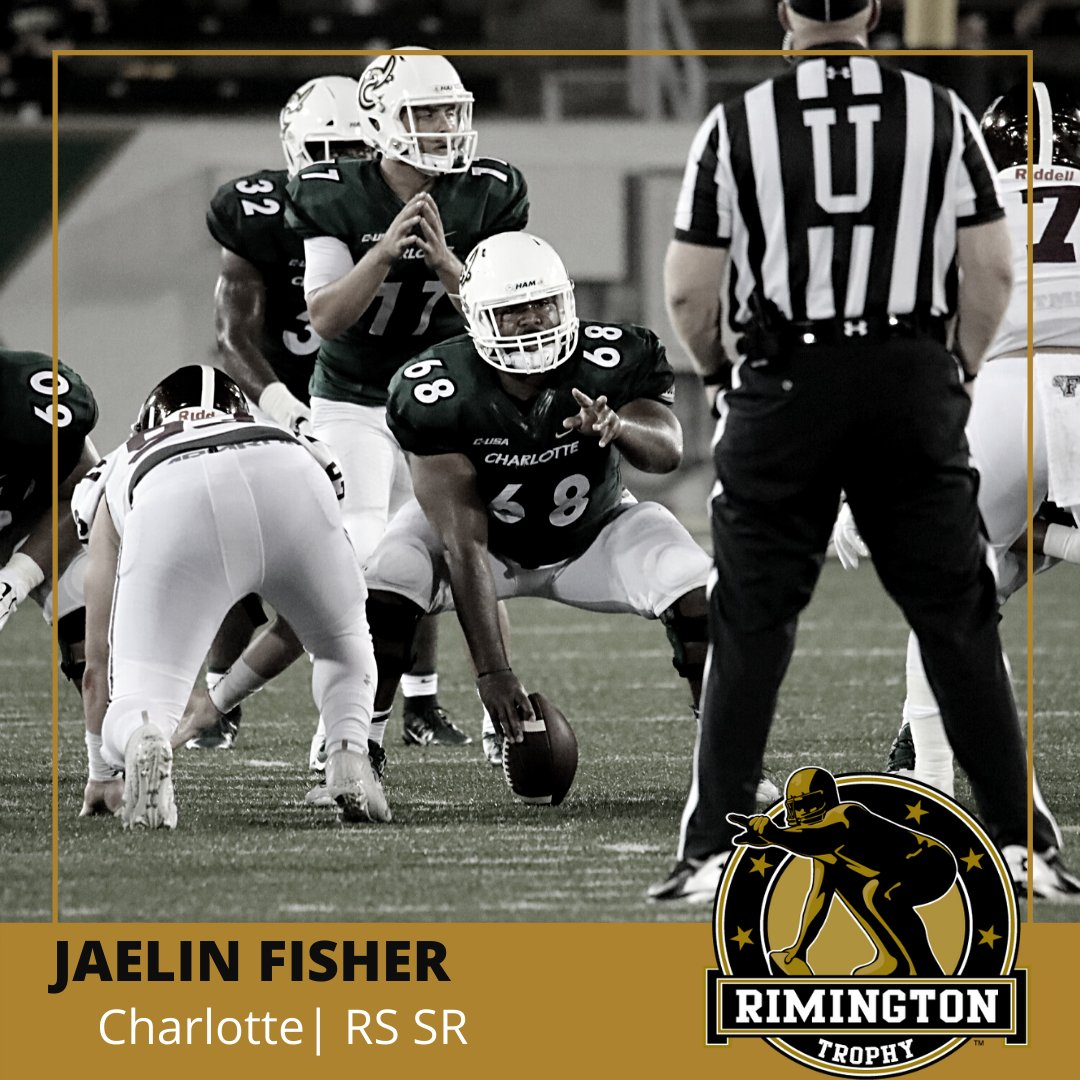 @CharlotteFTBL RS SR Jaelin Fisher has yet to be charged with a hurry, hit or sack on 104 pass block snaps this season according to @PFF_College. #rimingtonwatchlist