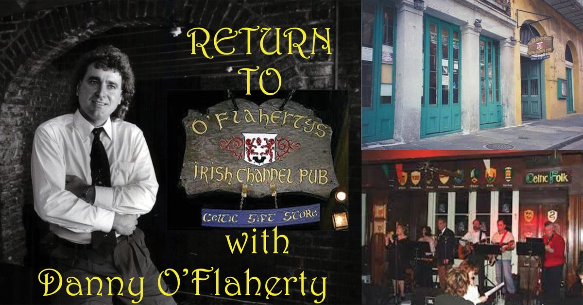 Come back in time to O'Flaherty's Irish Channel Pub November 14th at 7PM Central. I will be streaming a special performance recorded live at Esplanade Studios in New Orleans. This will be a one time only showing! Get more info here! https://t.co/1ESR0NAMAB #NOLA #IrishMusic #Folk https://t.co/kAHVvsnIY9
