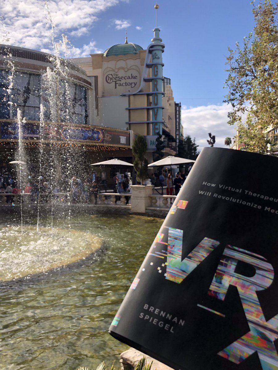 Love it! Looks like you've brought my book to @TheGroveLA, one of my favorite spots. Hope you're enjoying #VRx and don't plan to throw into the fountain!