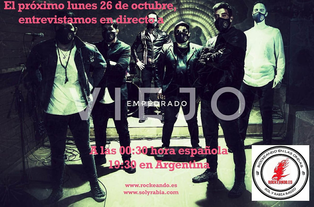 """El programa """"Rockeando en las Ondas"""" de hoy viene con entrevista a la banda de rock Argentina @ViejoEmpedrado no te lo pierdas a las 00:00 h en https://t.co/augJlg2POJ"""