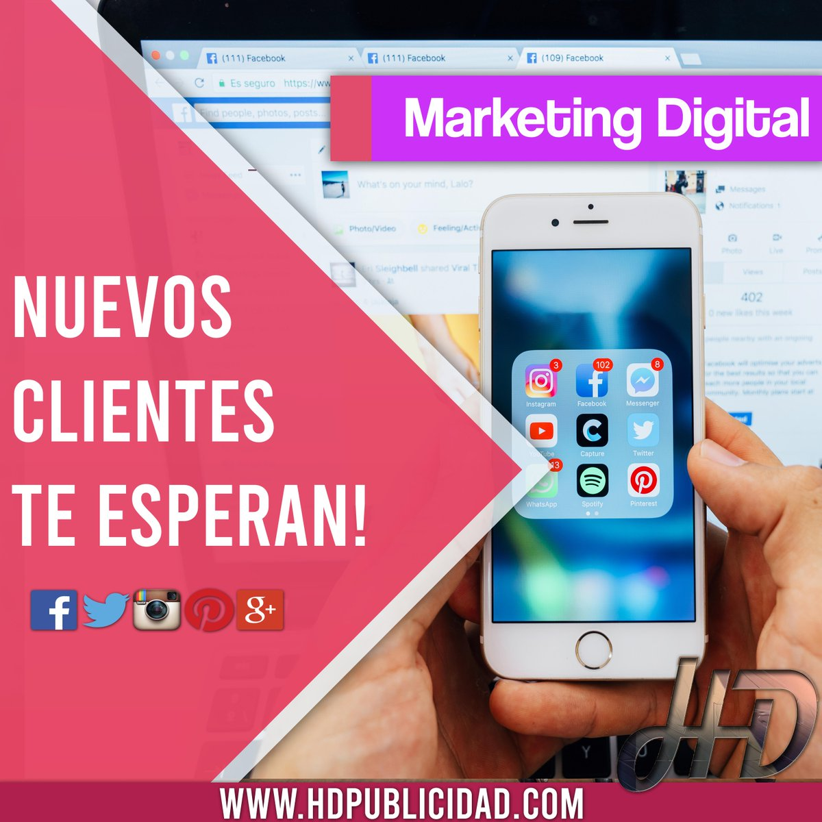 En #Hd te ayudamos a conseguir #Nuevos #Clientes🙌 📊💪 ~Aumentamos tus #Ventas📣~ >Marketing Digital >Aumentamos tus ventas >Publicidad en Redes sociales Consultanos HD Agencia Digital https://t.co/KHsJe35Vor ▶️📱Whatsapp: 0341-6663229 info@hdpublicidad.com https://t.co/DOb9Y982Se