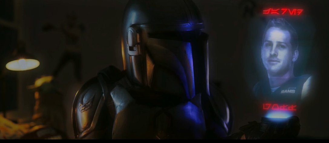 A #Mandalorian themed tease open to ESPN's #MNF tonight for #CHIvsLAR