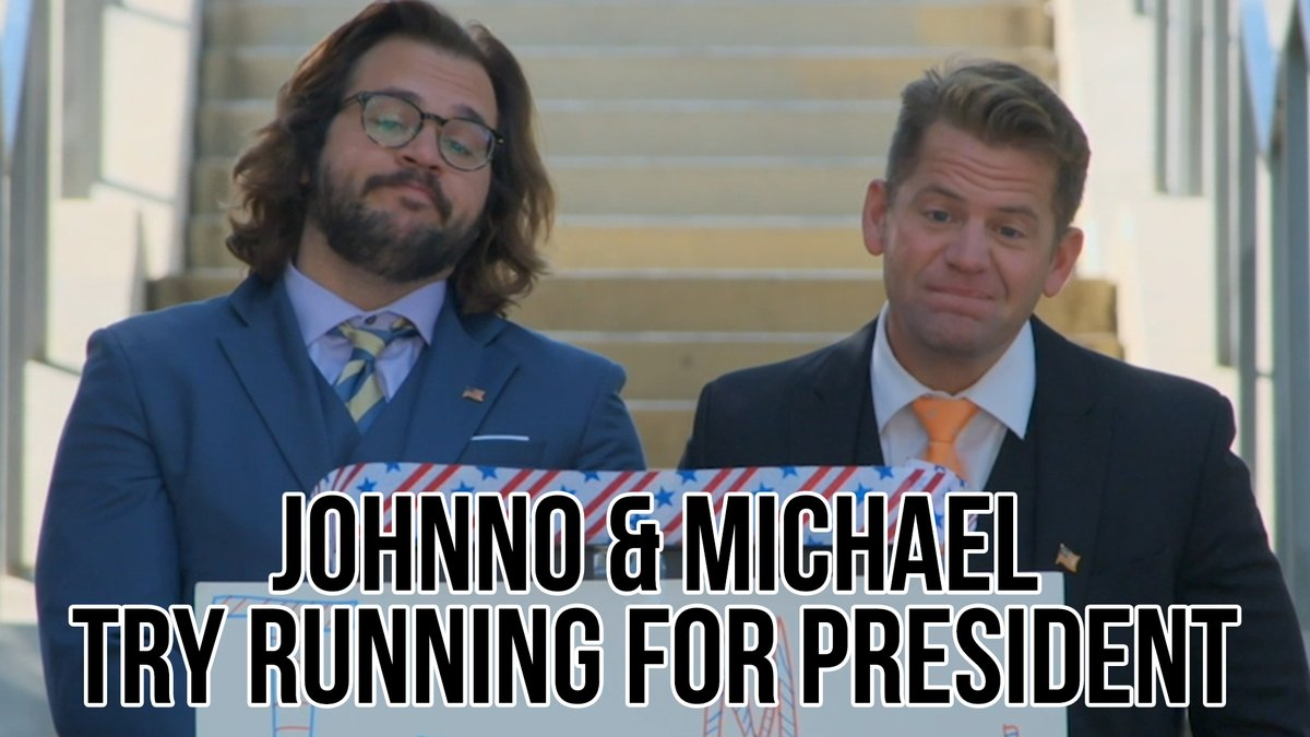 With the election right around the corner, @Johnno_Wilson and Michael decide to run for President… as one candidate.