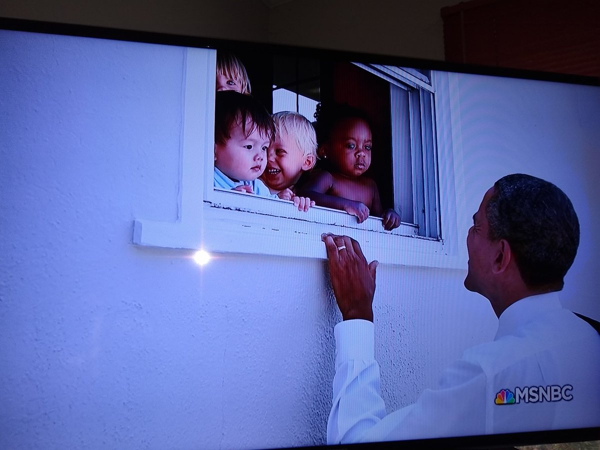 Can anyone else besides me imagine the current Commander-in-Cheat displaying a similar degree of basic humanity as shown here by President Obama in 2010 when he stopped by a daycare center to say