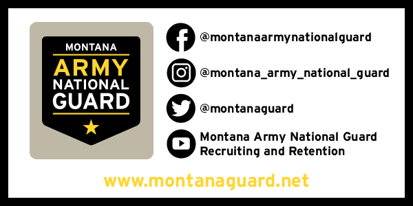 Did you know that the Montana Army National Guard has accounts across all social media platforms and we're ALWAYS posting new and updated information about our bonuses, education benefits, and events?  Follow us on all social media platforms to keep yourself current! #military