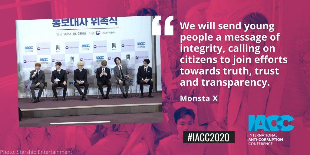 | 261020 | IACC #MONSTAX  « Nous allons envoyer aux jeunes un message d'intégrité, appelant les citoyens à unir leurs efforts pour la vérité, la confiance et la transparence.» ❤️  © IACCseries   #Chlö https://t.co/pbSnuGPVLu