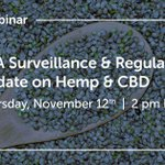 While the FDA is monitoring the dynamically evolving CBD/Hemp marketplace, it still has not initiated the regulatory process. Join our webinar for an in-depth discussion of the FDA's stance on a variety of #hemp & #CBD compliance topics. Register here: https://t.co/i1GBJHF0f9