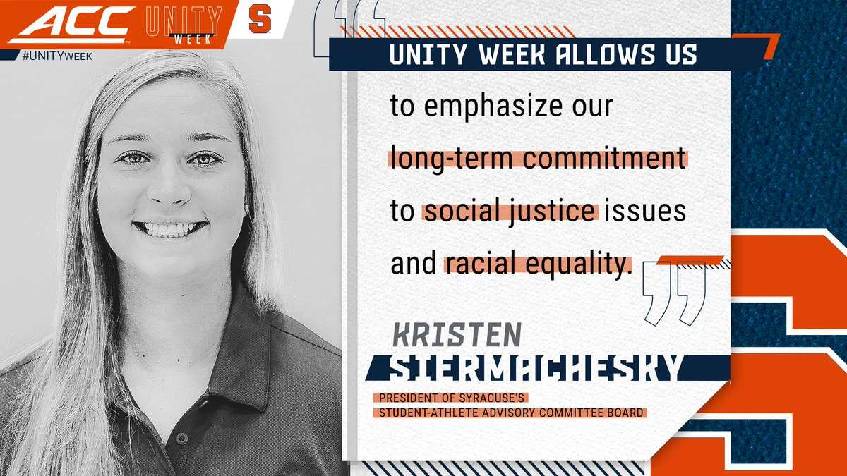 Syracuse SAAC President Kristen Siermachesky sheds light on the importance of #UNITYweek 👏 https://t.co/7P8kq0x4nD