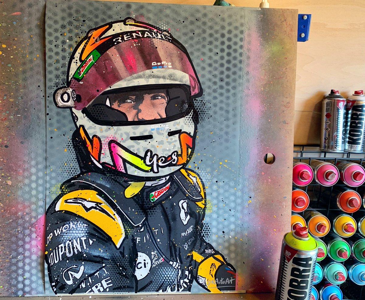 Daniel Ricciardo Podium graffiti painting is back in stock. Do you think he'll get another podium before the season is over? I hope so!🏆🍾 #drautoart  https://t.co/ugKMiYq3IW . . . #danielricciardo #ricciardo #becomeunstuck #dr3 #danielricciardo3 #ricciardo3 #renaultf1 #eifelgp https://t.co/ipO68i0XIY