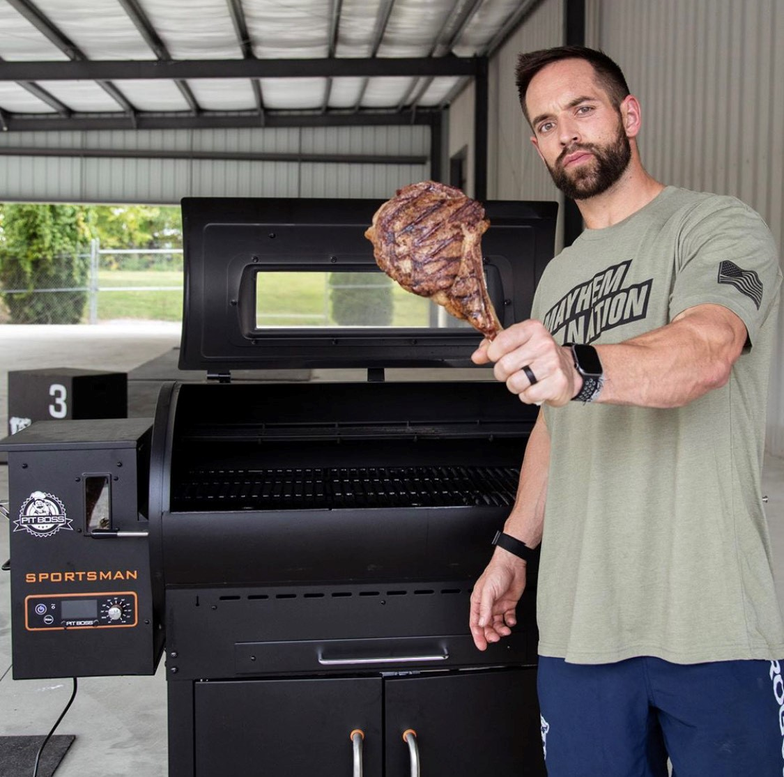 """Please welcome @CrossFit Champion, Rich Froning to #PitBossNation!  """"I'm excited to announce that I have officially joined #PitBossNation to help me master the grill and keep things exciting on the table."""" - @richfroning  Share your tips & tricks 👇 https://t.co/3q4Fa74Vsd"""